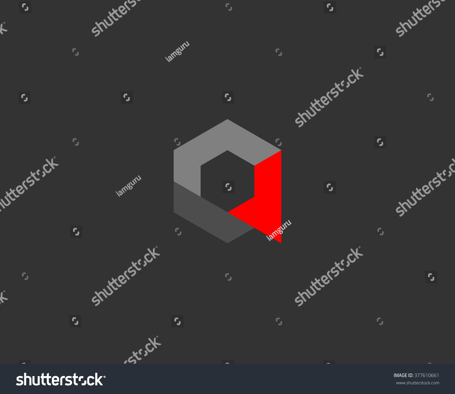 Abstract Cube Letter Logo Design Template Stock Vector (Royalty Free ...