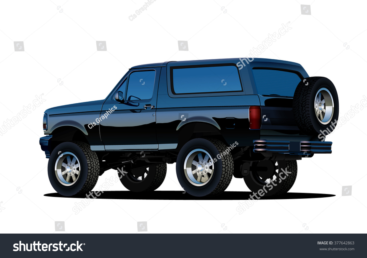 Offroad SUV Vehicle Vector EPS 10 Isolated Stock-Vektorgrafik ...