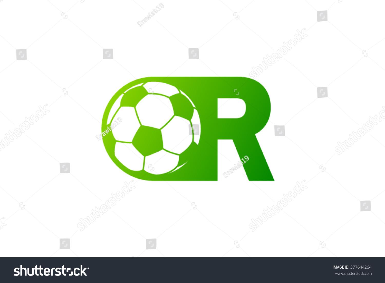 r letter logo football ball logo stock vector 377644264 shutterstock
