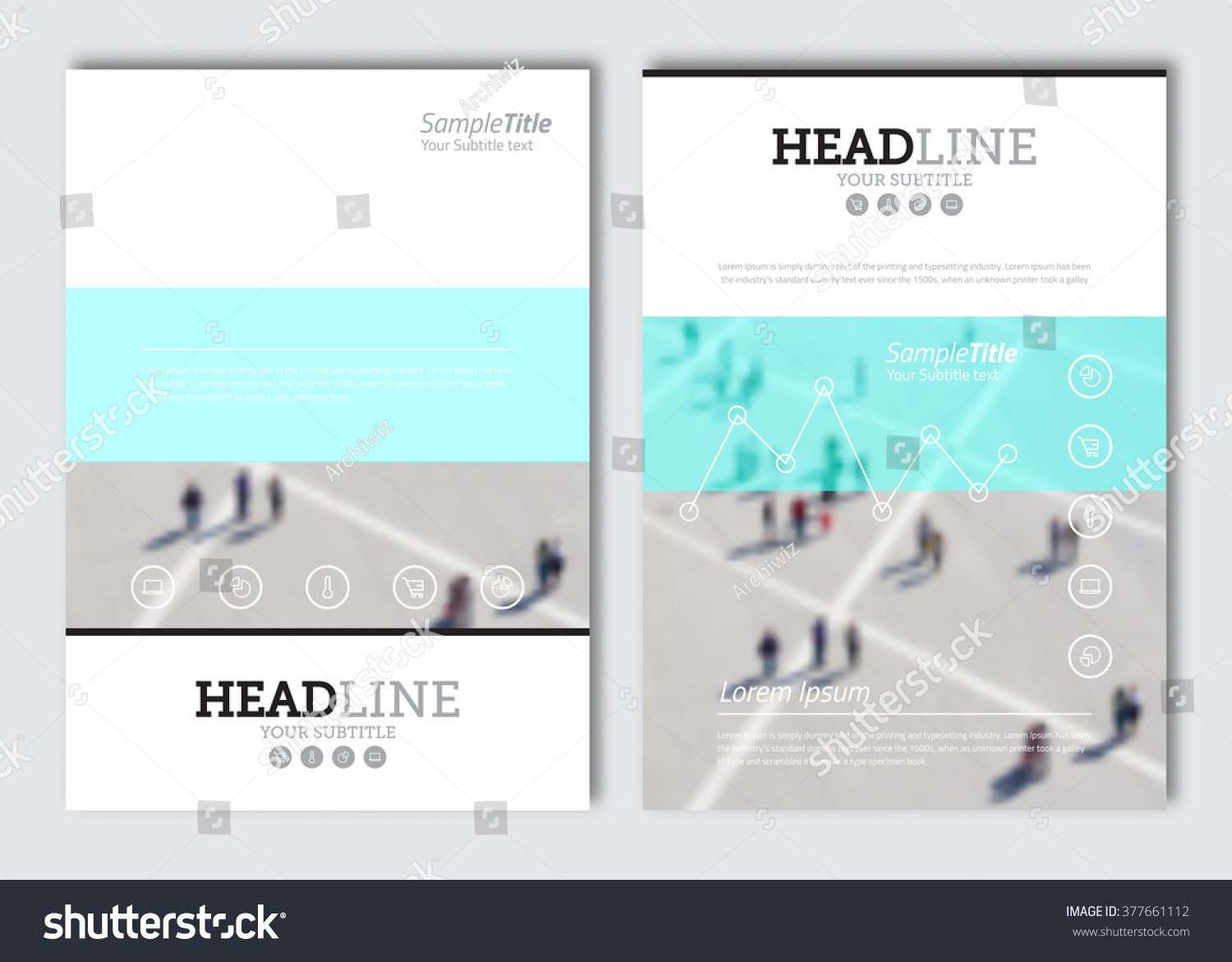 Poster design size - Business Brochure Design Template Vector Flyer Layout Blur Background With Elements For Magazine