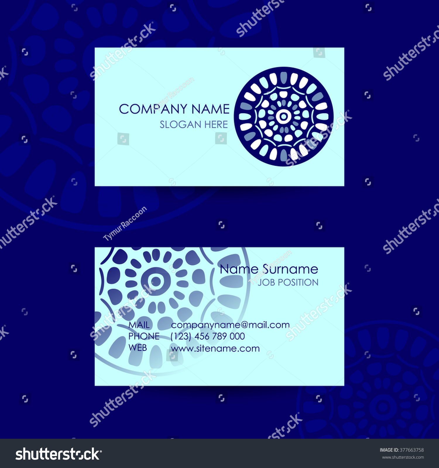 Ethnic Logo Traditional Symbol Business Card Stock Vector (2018 ...