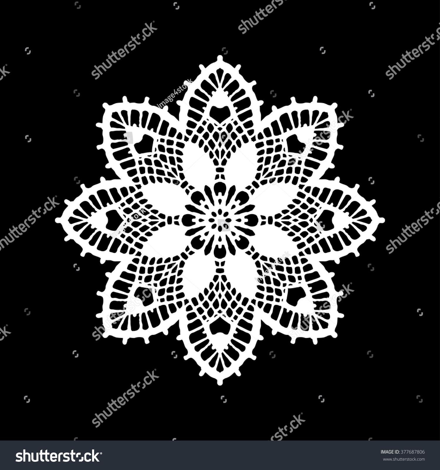 Lace Doily Hand Made Cutout Wedding Decor Design Element