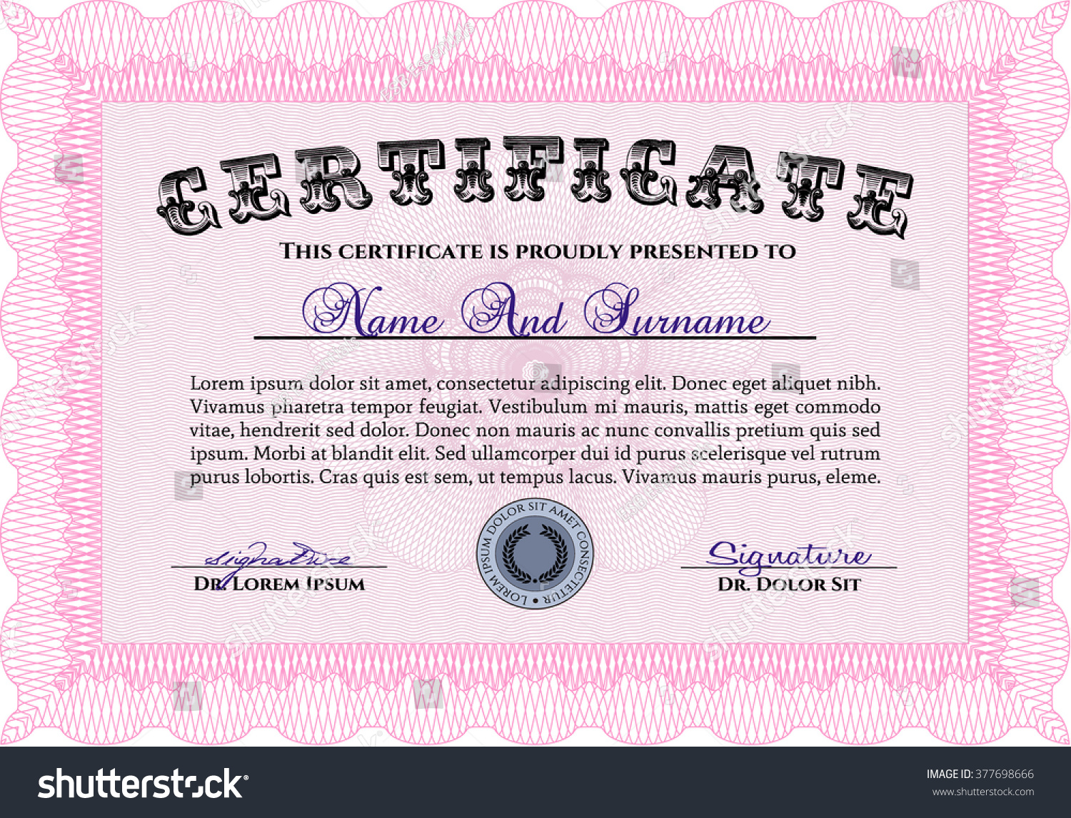 Reiki certificate template vector images certificate design and doc494382 sample certificate of appreciation samples of written xflitez Gallery