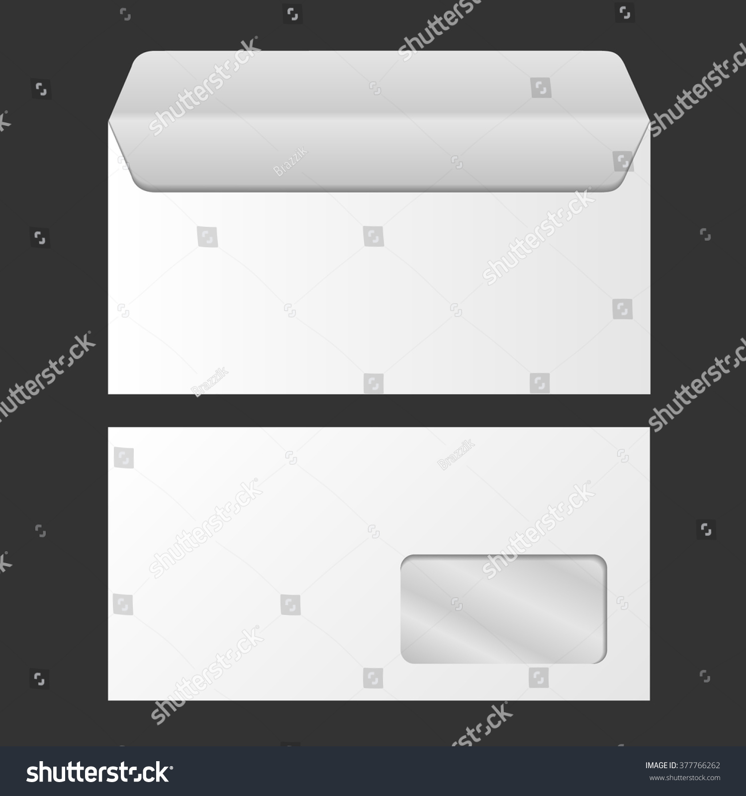 Template Advertising Corporate Identity Envelope Window Stock Vector