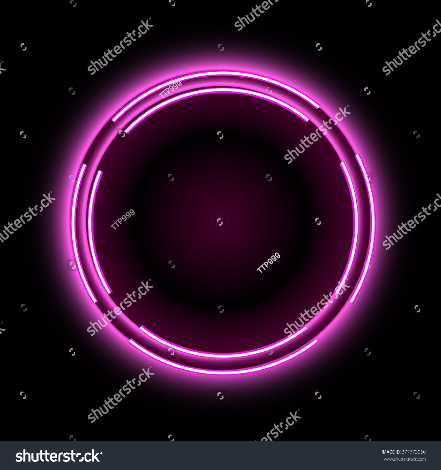 violet glowing circle vector background neon stock vector