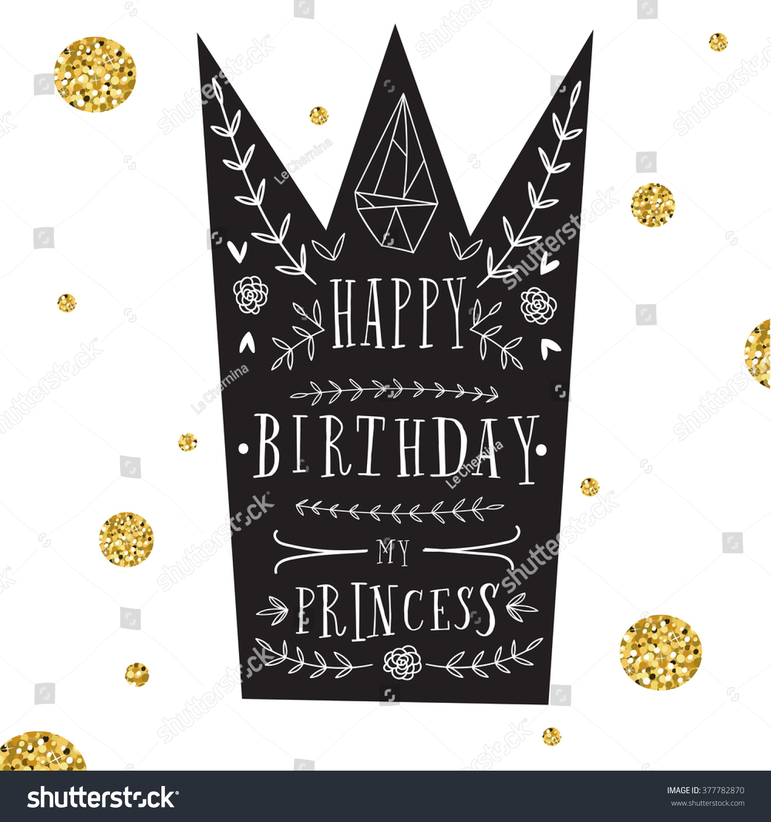 vector happy birthday card modern hipster stock vector 377782870 shutterstock. Black Bedroom Furniture Sets. Home Design Ideas