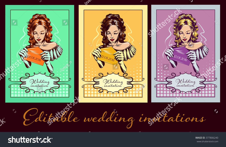 Bride White Wedding Dress Pop Art Stock Vector (2018) 377806240 ...