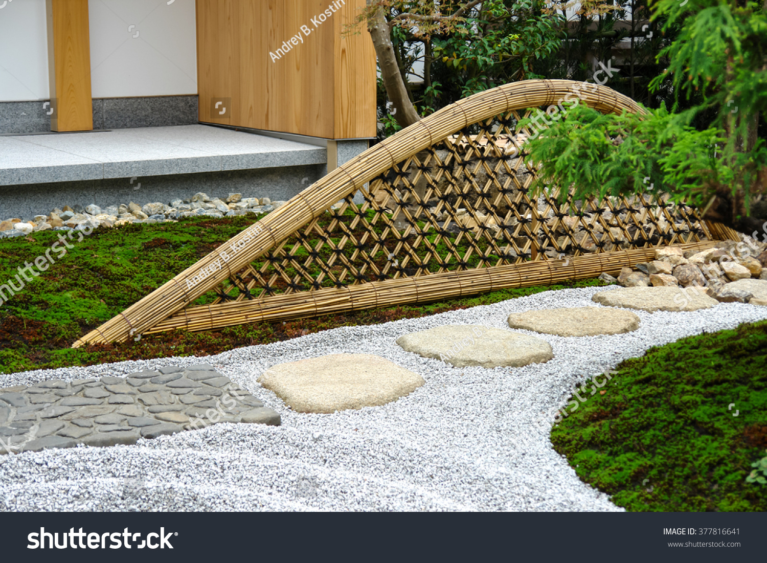 Step Stones In Japanese Garden