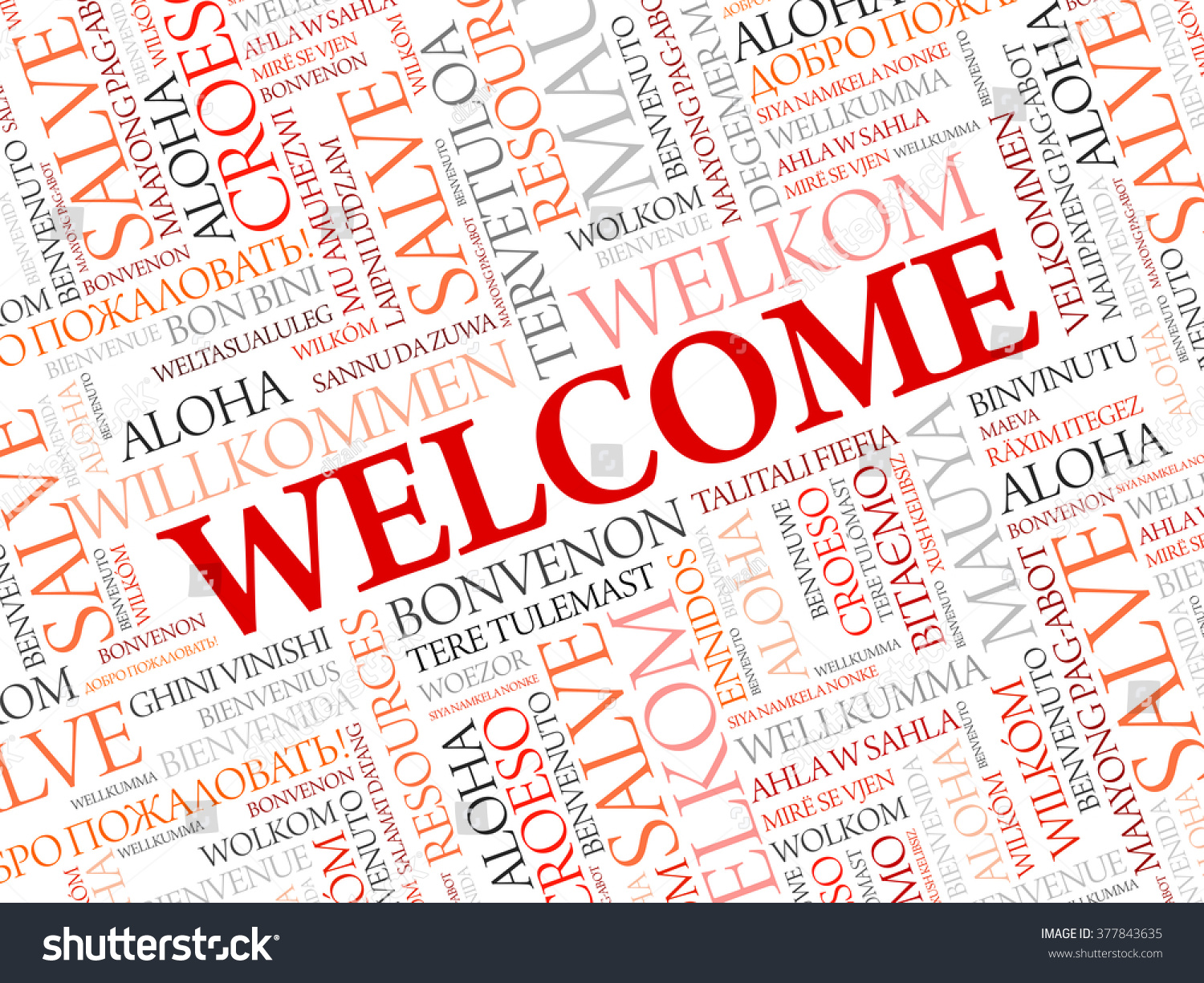 Welcome Word Cloud Different Languages Concept Stock Vector Royalty