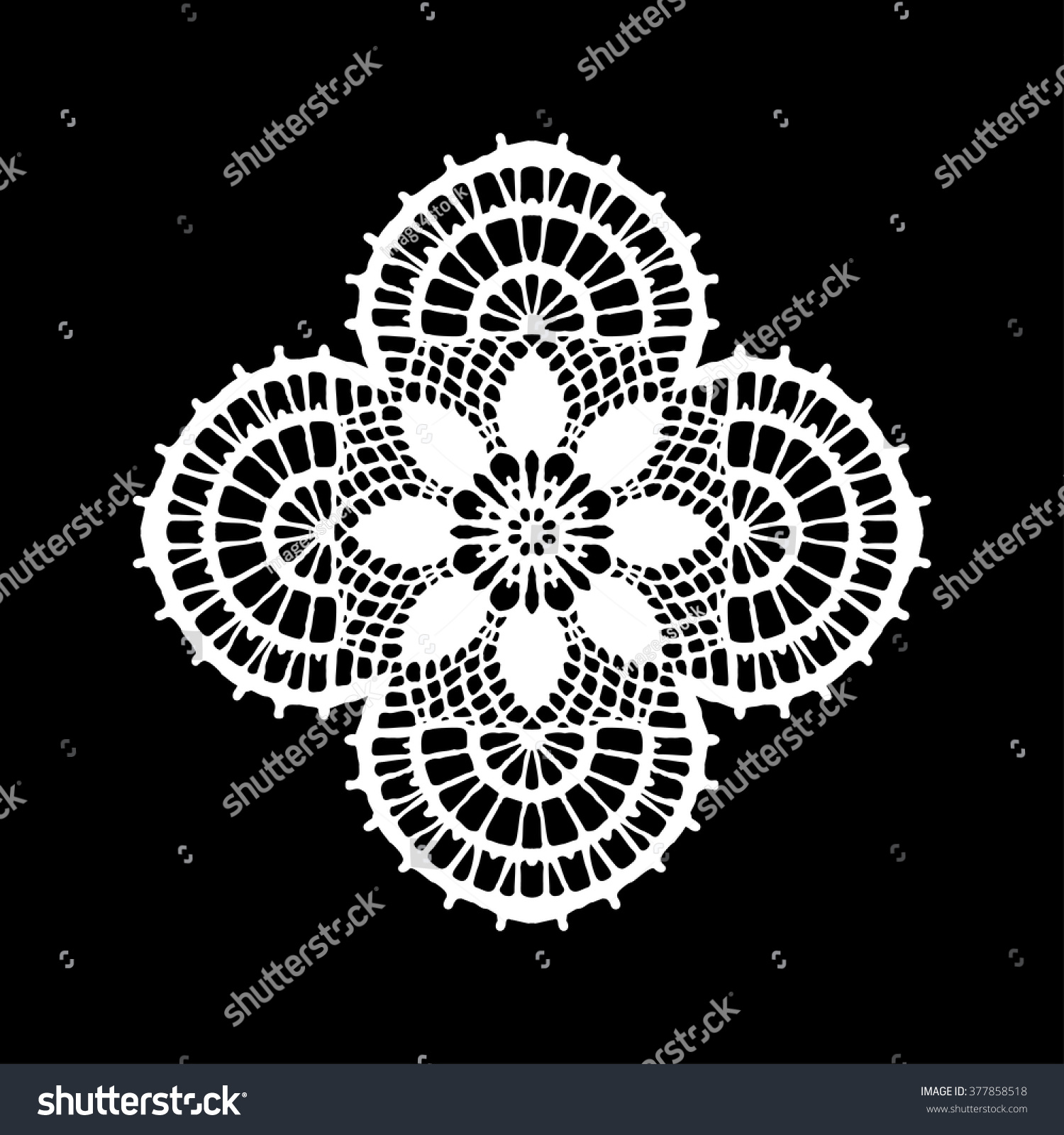 Lace Doily Hand Made Cutout Wedding Stock Vector Royalty Free