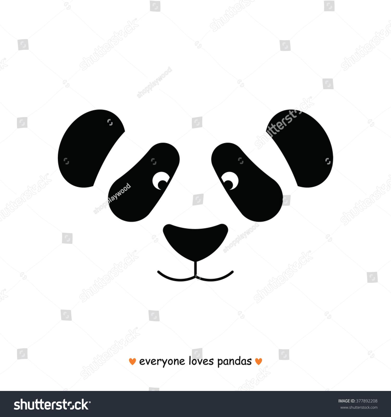 Panda Bear Face Logo Vector Panda Stock Vector 377892208 ...