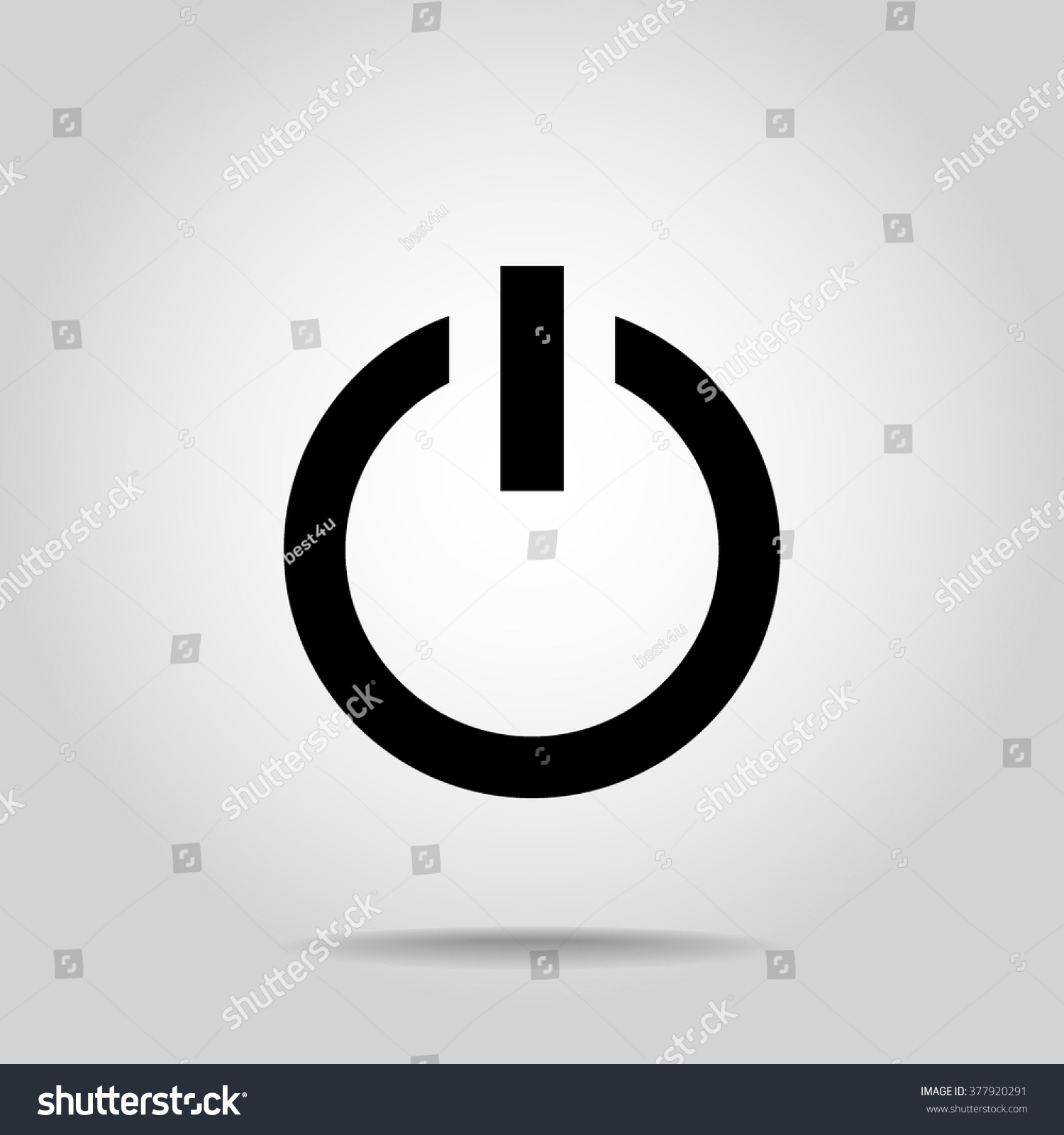 Power Onoff Button Sign Icon Vector Stock Vector 377920291