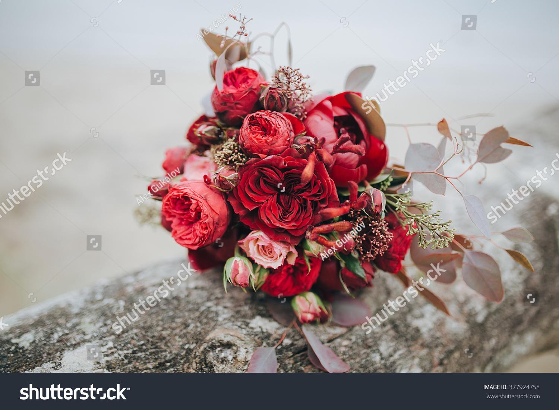 Wedding Bouquet Brides Bouquet Bouquet Red Stock Photo Edit Now