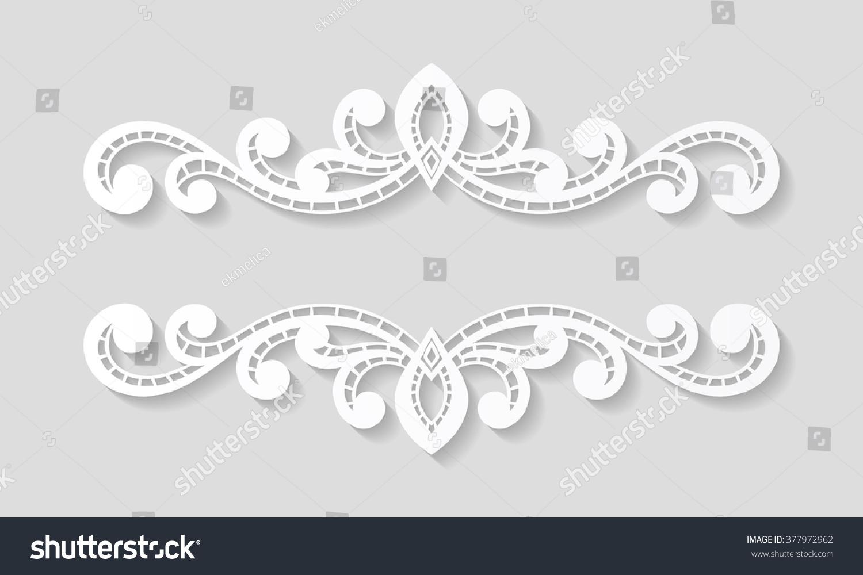 Elegant paper retro floral border hand stock vector royalty free