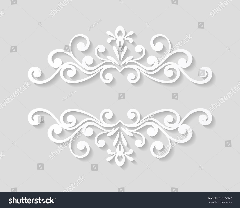 Elegant Paper Retro Floral Border Hand Vector 377972977 – Paper Border Designs Templates
