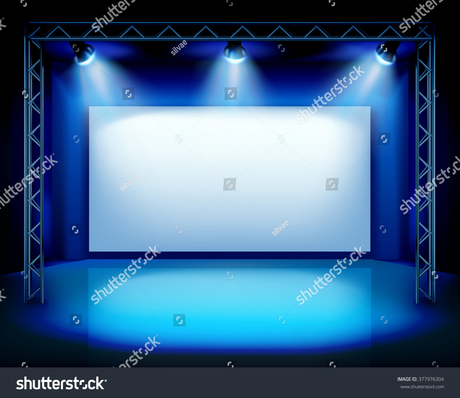 Empty Show Stage Vector Illustration Stock Vector