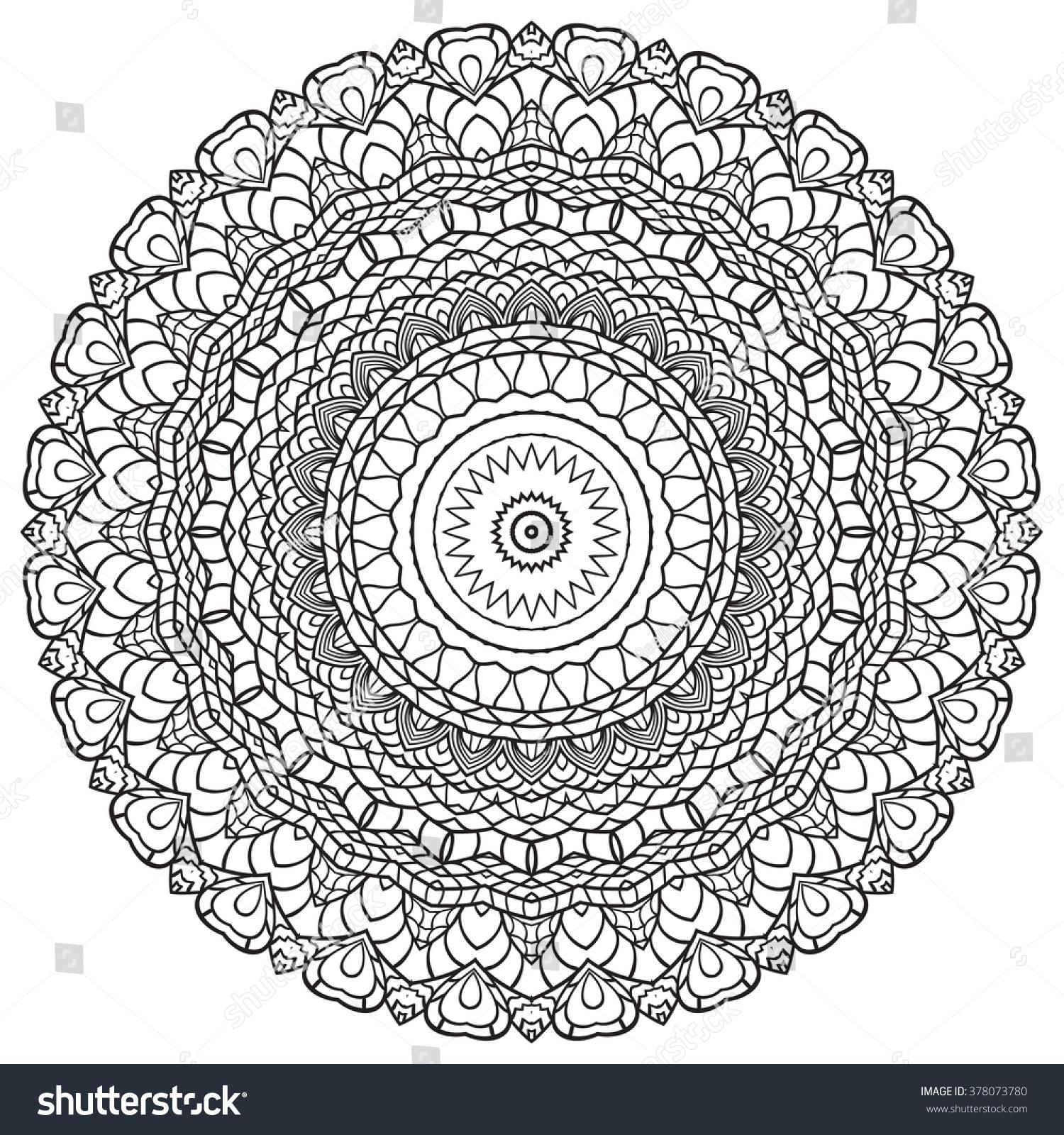 coloring page mandala vector art stock vector 378073780