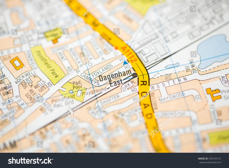 Dagenham East London Uk Map Photo 378135121 Shutterstock – East London Uk Map