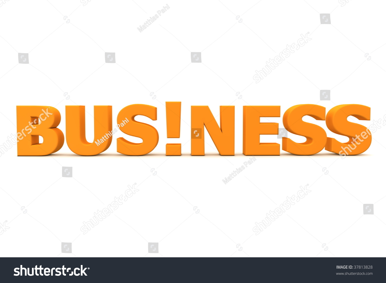 Orange Word Business Exclamation Mark Replacing Stock