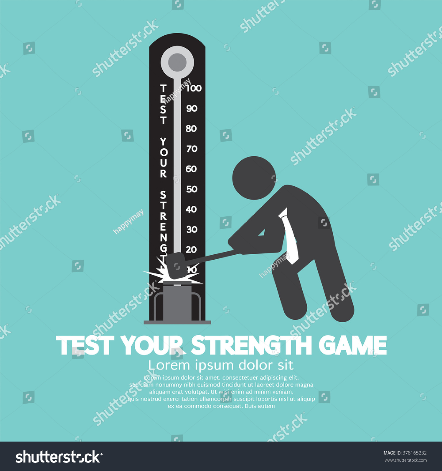 test your strength game symbol vector stock vector  test your strength game symbol vector illustration