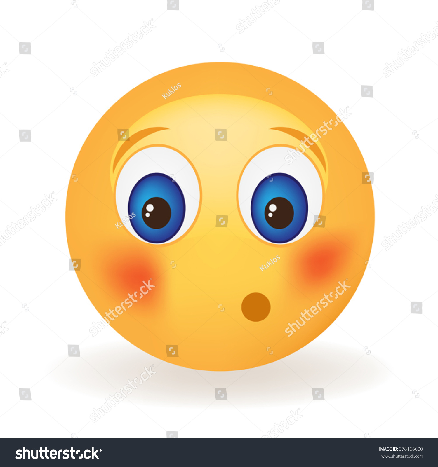 embarrassed smiley face stock vector 378166600 shutterstock rh shutterstock com Frustrated Smiley Face Clip Art Yummy Smiley Face Clip Art