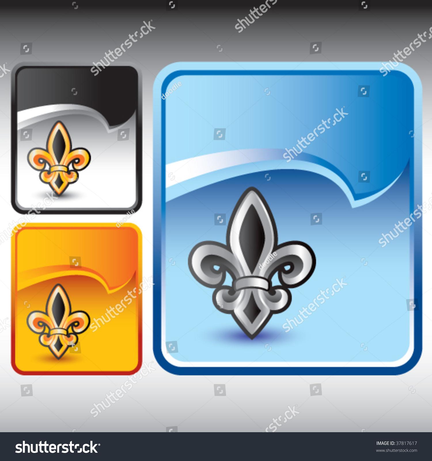 Fleur de lis symbol on multicolored stock vector 37817617 fleur de lis symbol on multicolored rip curl banners biocorpaavc