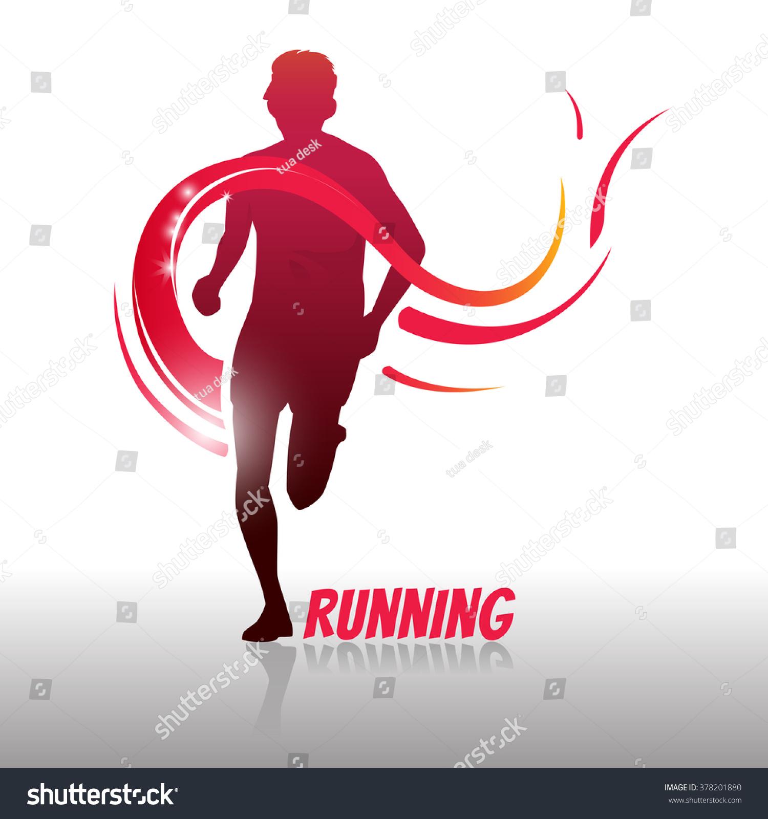 Running Man Logo Symbol Create By Stock Vector 378201880