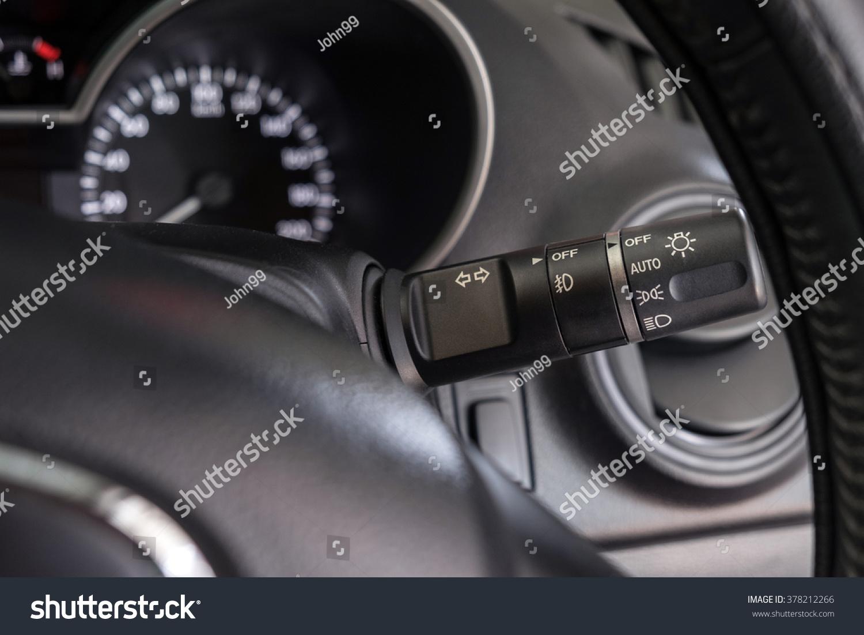 Close Light Switch Control Car Stock Photo (Edit Now