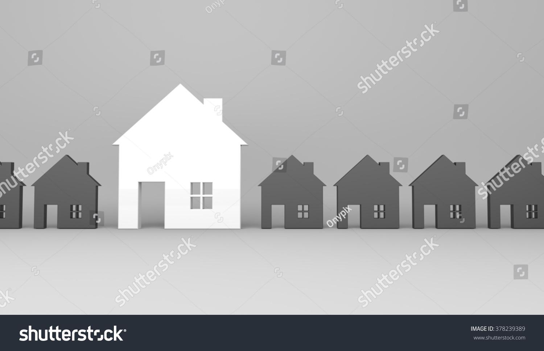 3d render illustration white house symbol stock for House music symbol