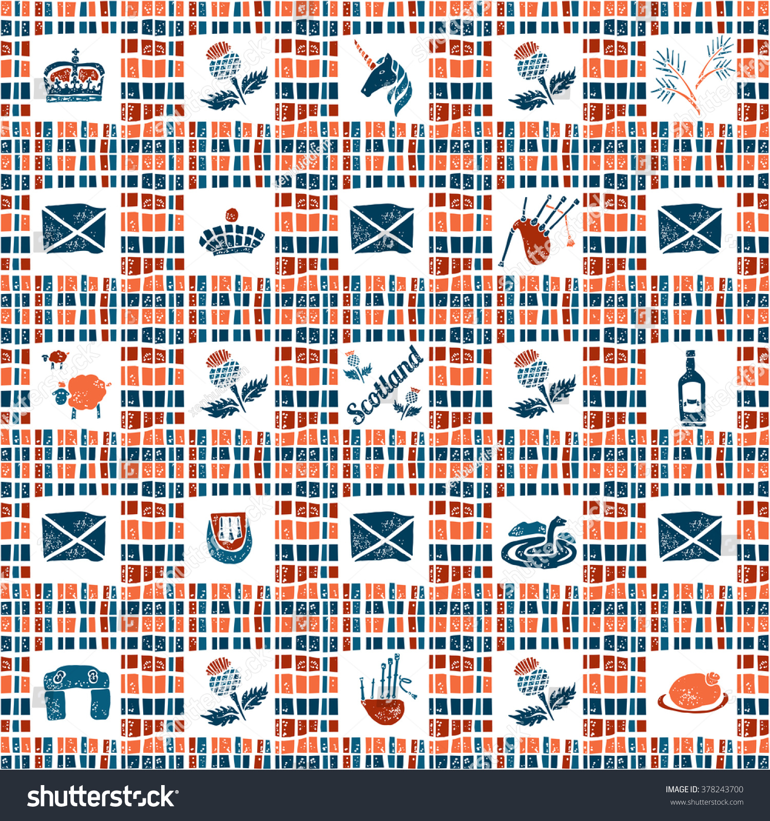 Plaid fabric vector seamless pattern symbols stock vector 378243700 plaid fabric vector seamless pattern symbols of scotland buycottarizona Image collections