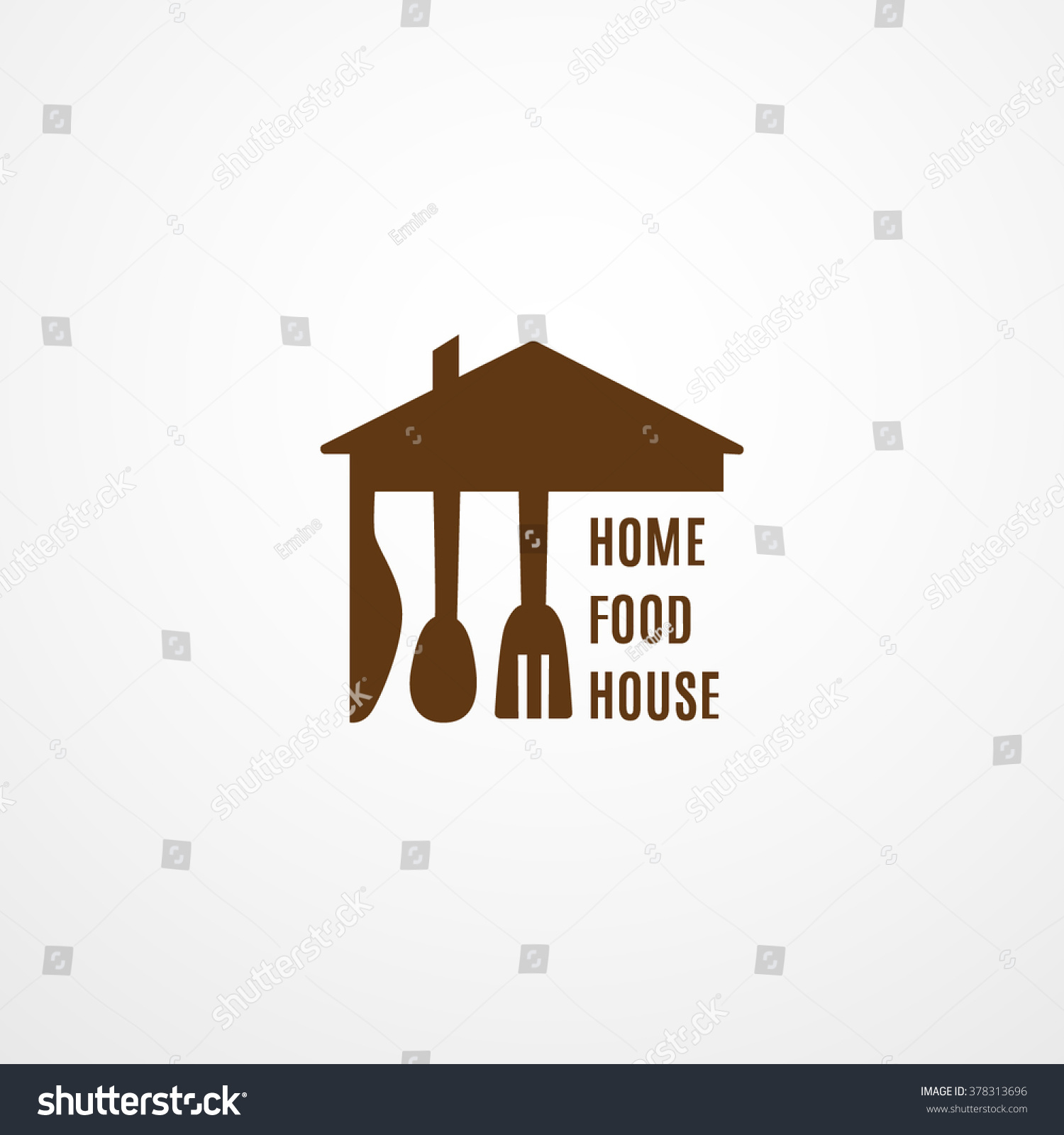 Food Logo Template Home Food House Stock Vector 378313696 ...