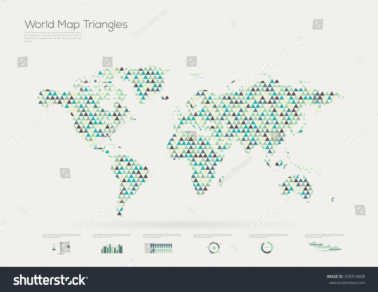 Triangle shape world map infographic vector vectores en stock triangle shape world map infographic vector illustration gumiabroncs Choice Image