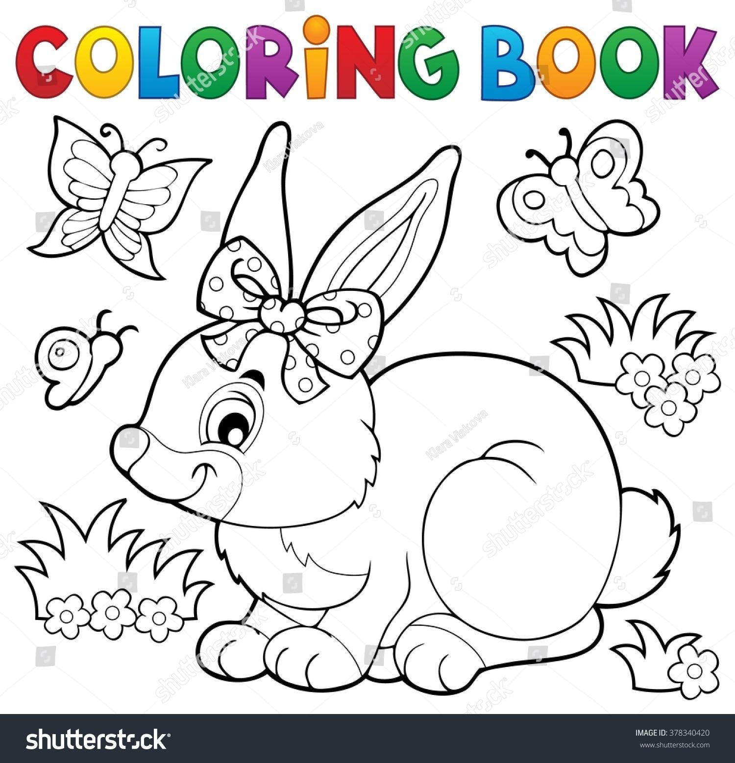 Coloring Book Rabbit Topic 3