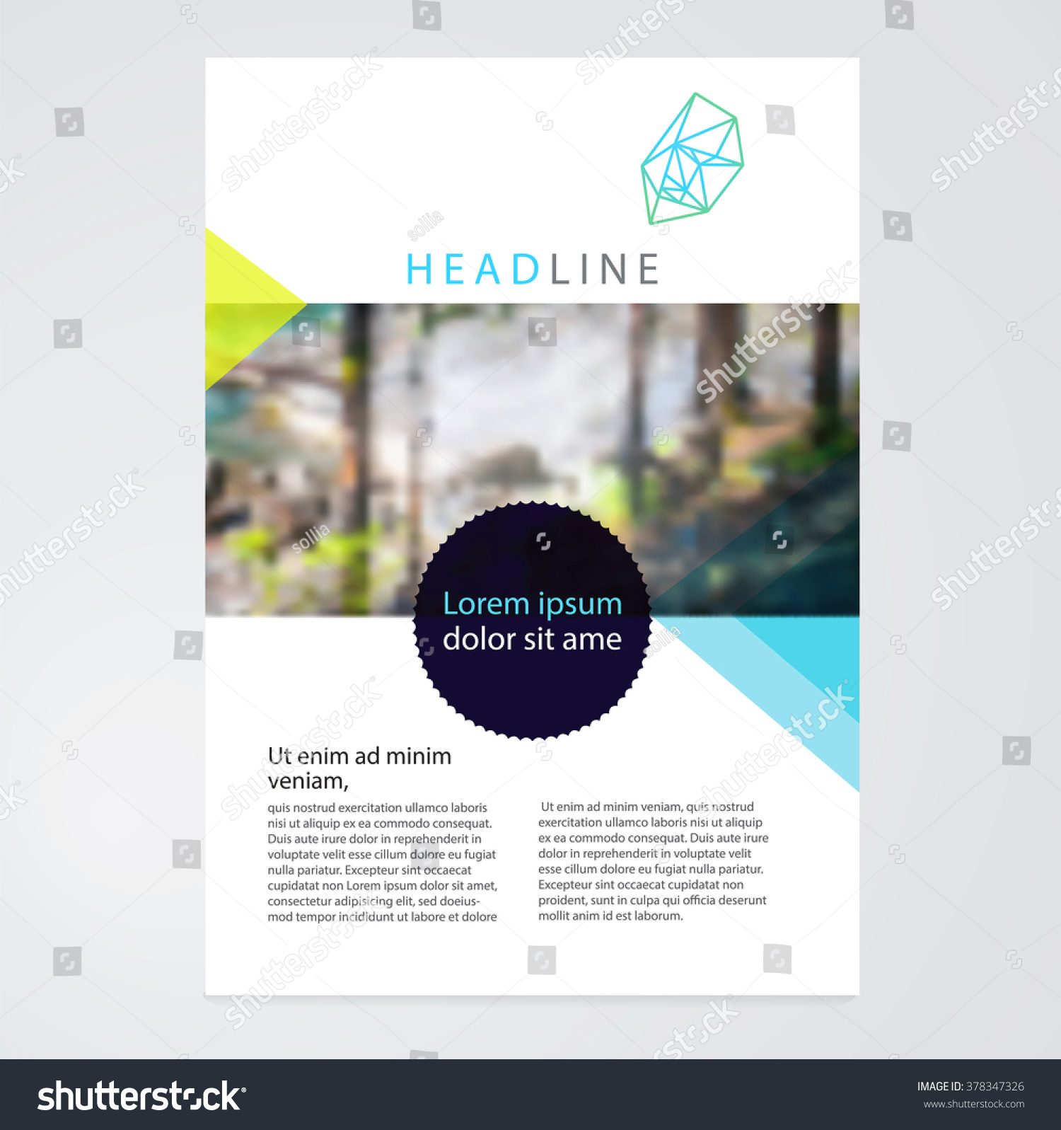 Brochure leaflet flyer poster template stockvector stock for Background brochure templates