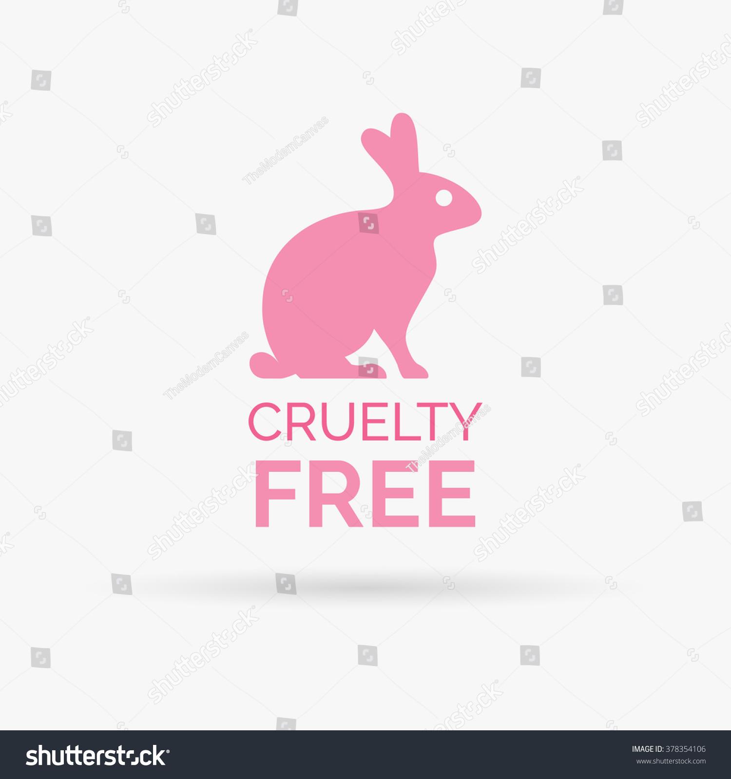 animal cruelty free icon design symbol stock vector 378354106