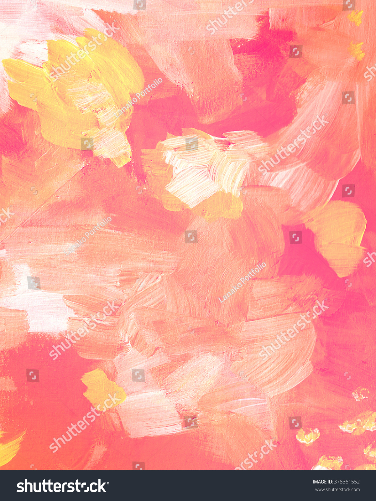 Yellow pink acrylic paint texture abstract stock for Acrylic background techniques
