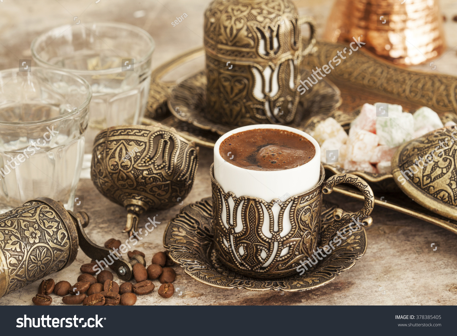 Cup turkish coffee stock photo 378385405 shutterstock a cup of turkish coffee buycottarizona Image collections