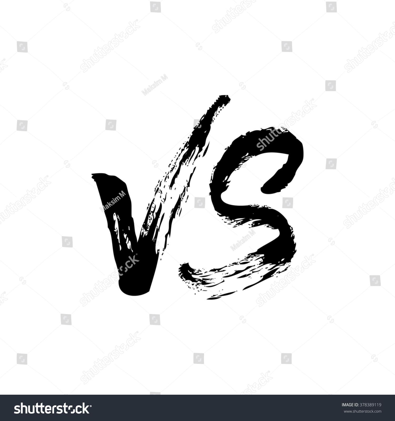 versus logo vs logo versus icon stock illustration
