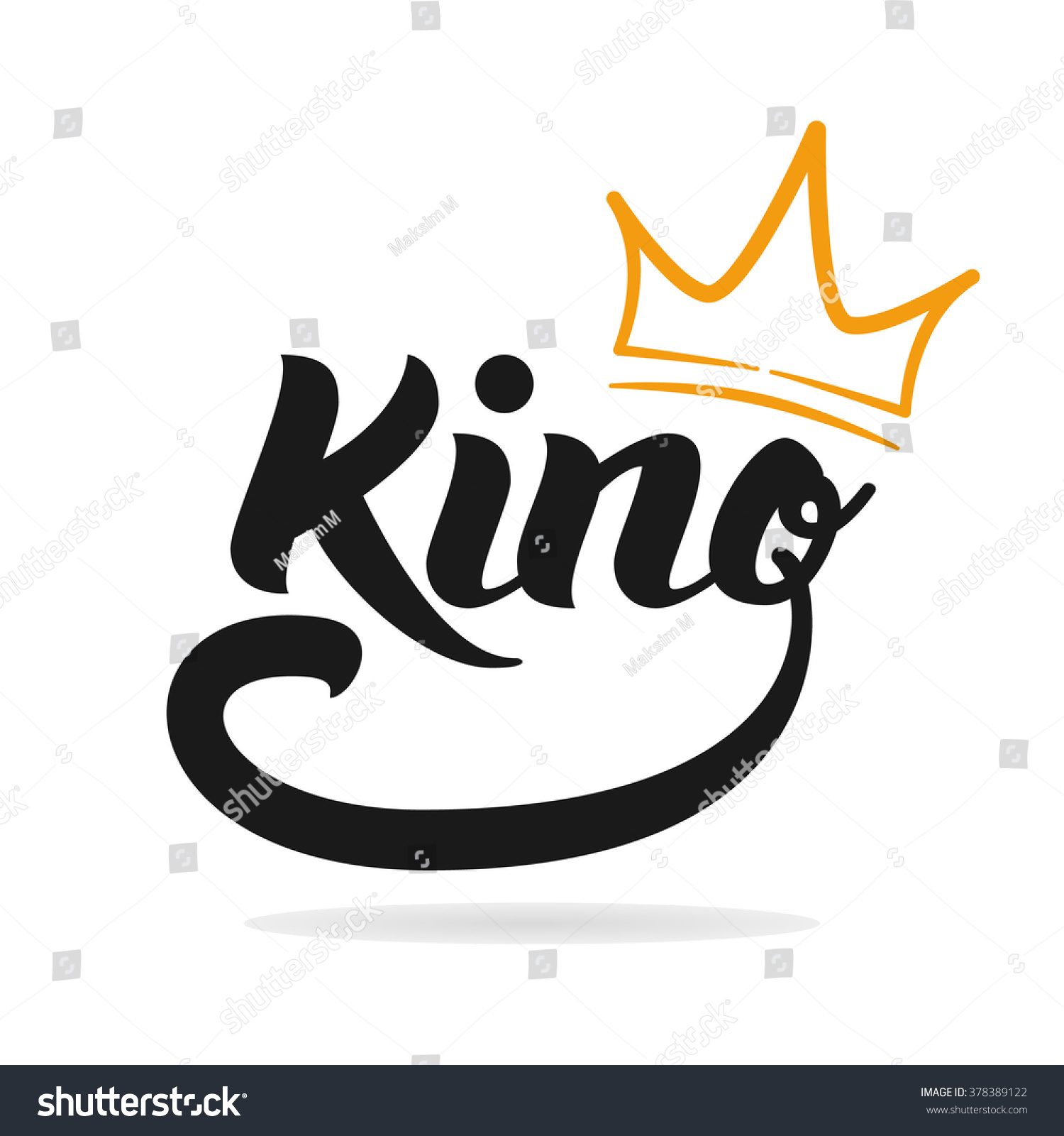 king logo template king icon word stock illustration 378389122