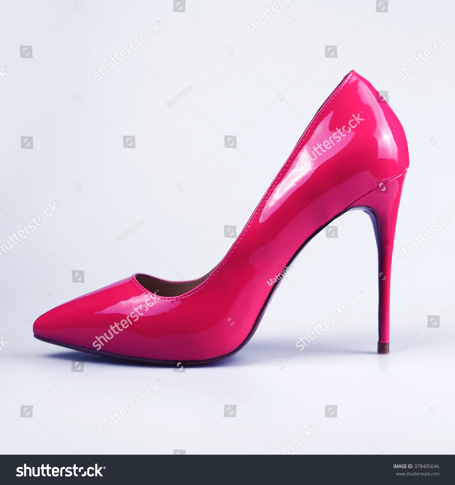 pair of pink s shoes stock photo 378405646