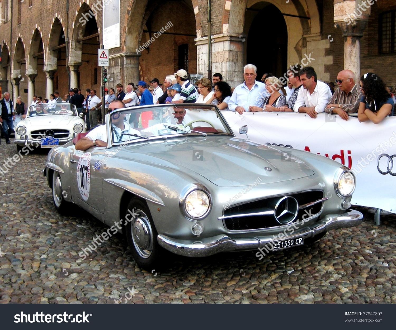MANTUA SEPTEMBER 18 Mercedes 1956 SL Stock Photo (100% Legal ...