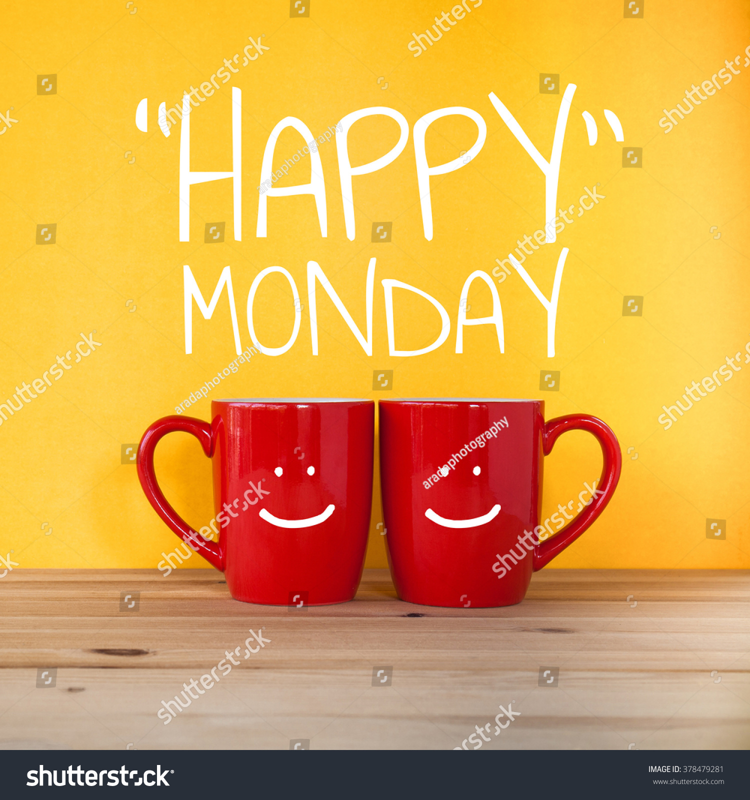 https://image.shutterstock.com/z/stock-photo-happy-monday-word-two-cups-of-coffee-and-stand-together-to-be-heart-shape-on-yellow-background-378479281.jpg