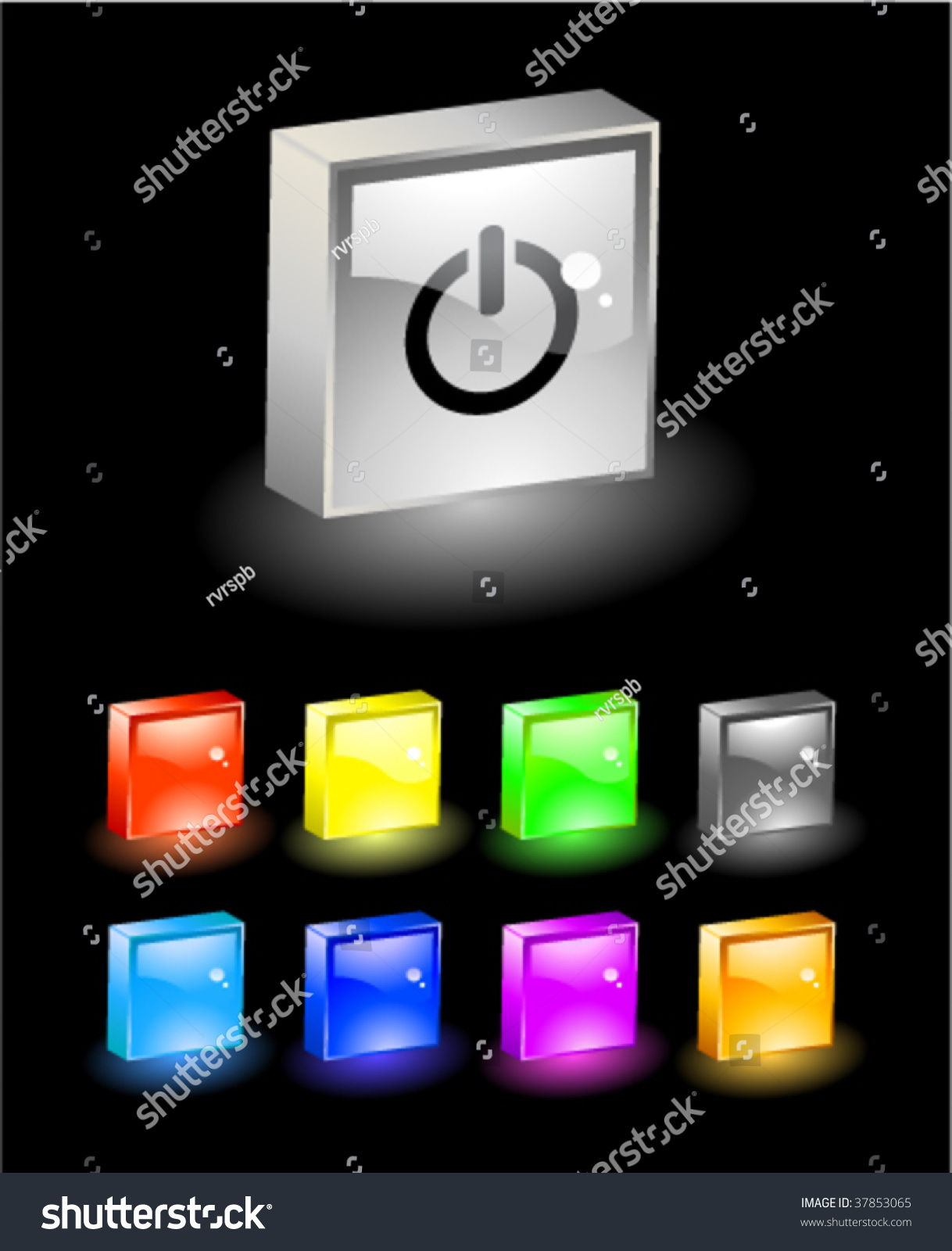 3d Web Buttons Stock Vector Illustration 37853065