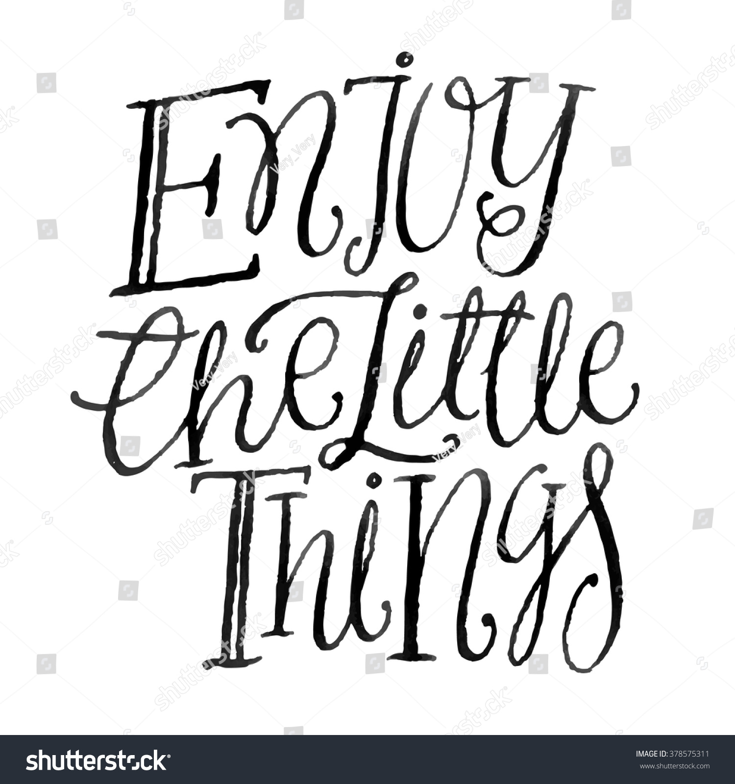 Hand Drawn Typography Poster Inspirational Quote Stock Vector ...