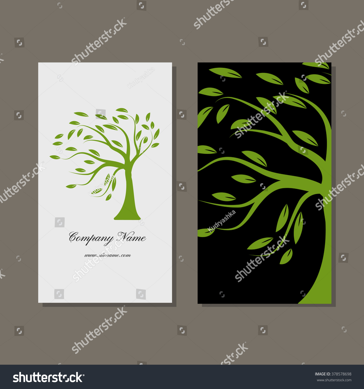 Business card design green tree stock vector 378578698 shutterstock business card design green tree magicingreecefo Choice Image