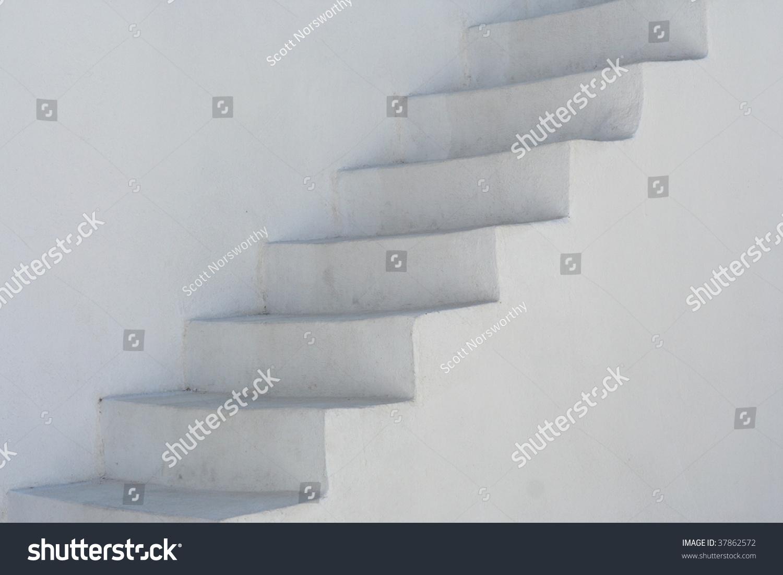 Santorini Whitewashed Stairs