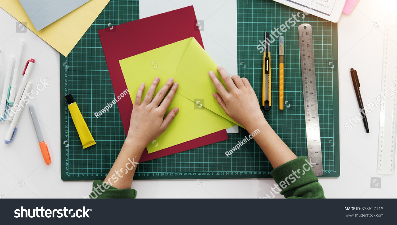 Woman Hands Folding Paper Desk Concept Stock Photo ... - photo#40