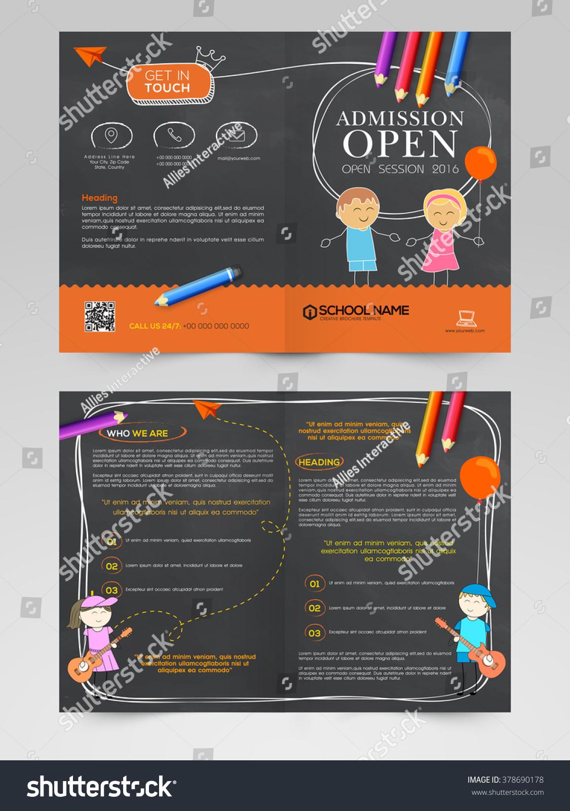 Back School Concept Creative Brochure Template Stock Vector ...