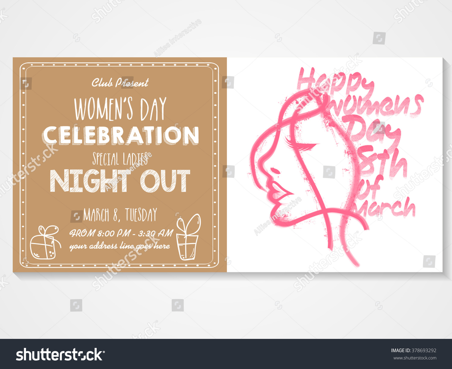 Creative Invitation Card Design Illustration Young Stock Vector 378693292