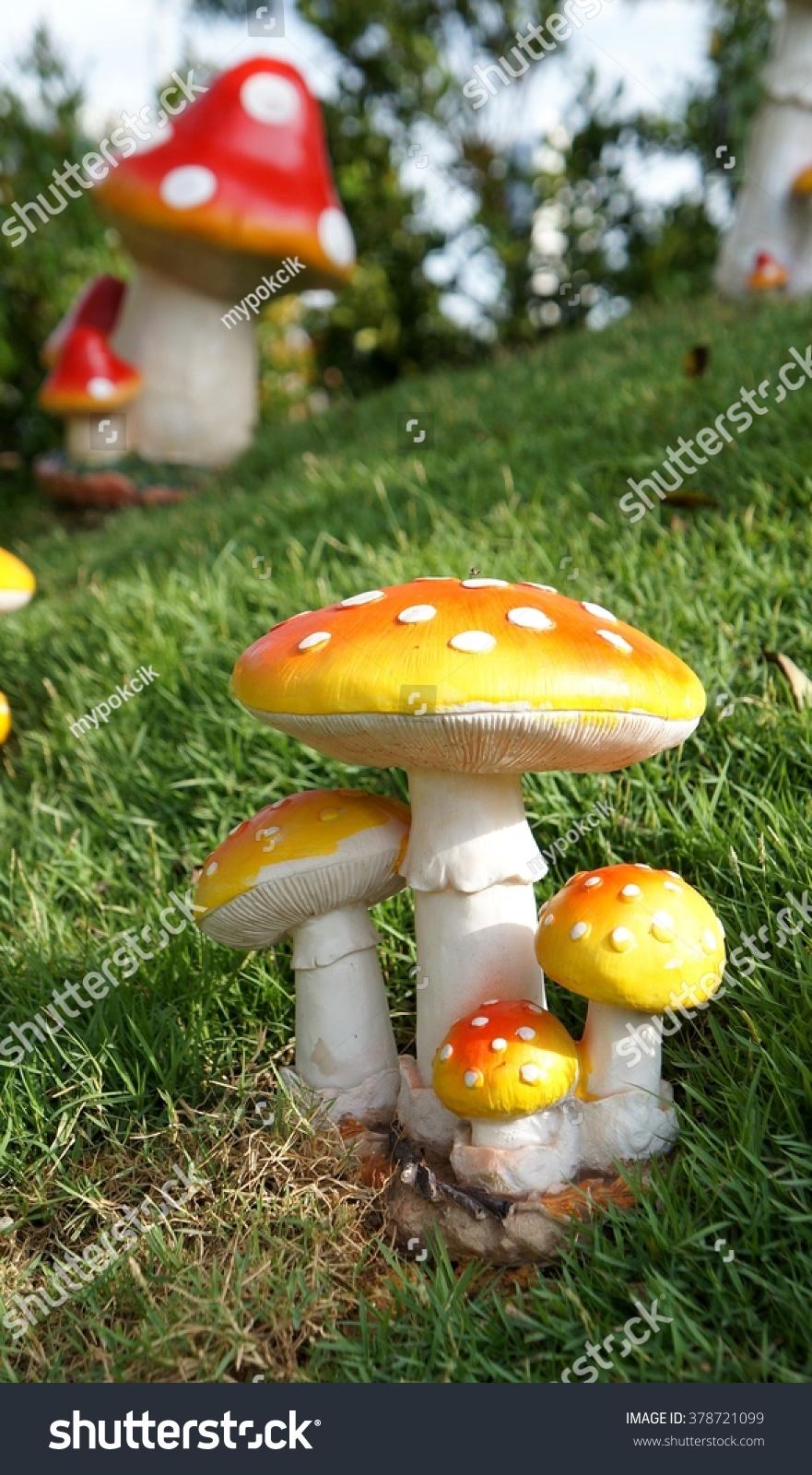 Stone Mushrooms Garden Decoration Stock Photo 378721099 - Shutterstock